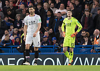 Football - 2017 / 2018 Premier League - Chelsea vs Crystal Palace<br /> <br /> Wayne Hennessey (Crystal Palace) looking on despondently after conceding at Stamford Bridge <br /> <br /> COLORSPORT/DANIEL BEARHAM