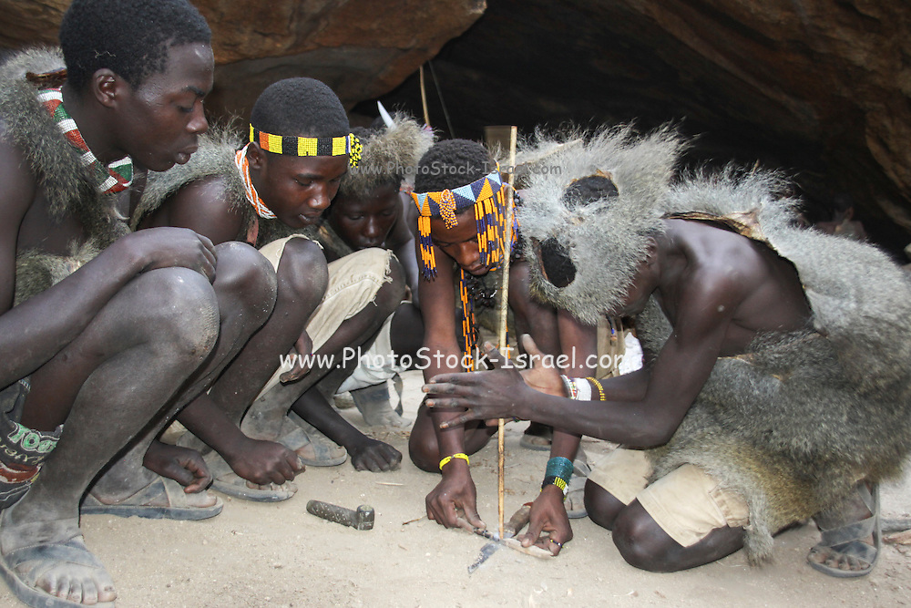 Coming of age ceremony Masai tribe, Tanzania. These young boys are being initiated into manhood