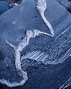 Pattern on gneiss boulder along the shore of Gargantuan Bay of Lake Superior, Lake Superior Provincial Park, Ontario, Canada.