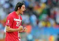 Fotball<br /> VM 2010<br /> Serbia v Tyskland<br /> 18.06.2010<br /> Foto: Witters/Digitalsport<br /> NORWAY ONLY<br /> <br /> Schlussjubel Neven Subotic (Serbien)<br /> Fussball WM 2010 in Suedafrika, Vorrunde, Deutschland - Serbien 0:1
