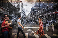 Crosswalk Little Italy New York City by Jacqueline Agentis