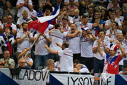 November 10, 2018 - Prague, Czech Republic - Czech Fans cheer on their team at the 2018 Fed Cup Final between the Czech Republic and the United States of America (Credit Image: © AFP7 via ZUMA Wire)