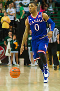 WACO, TX - JANUARY 7: Frank Mason III #0 of the Kansas Jayhawks brings the ball up court against the Baylor Bears on January 7, 2015 at the Ferrell Center in Waco, Texas.  (Photo by Cooper Neill/Getty Images) *** Local Caption *** Frank Mason III