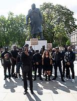 2 Badda filming his new music video at parliament square London  june 20th 2020  Photo by  Brian Jordan