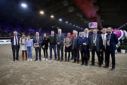 Afscheid Lucien Somers als Parcourbouwer van Jumping Mechelen<br /> Longines FEI World Cup presented by Land Rover<br /> Vlaanderens Kerstjumping Memorial Eric Wauters<br /> © Dirk Caremans<br /> 27/12/2016