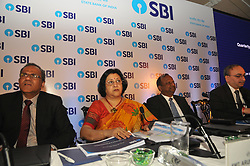May 19, 2017 - Kolkata, India - State Bank of India (SBI) Chairman Mrs. Arundhati Bhattacharya looks on as she announces the annual financial results of the bank for the year ended March 2017, On may 19,2017 in Kolkata,India. (Credit Image: © Debajyoti Chakraborty/NurPhoto via ZUMA Press)