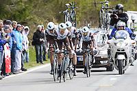Bakelandts Jan - Ag2r - 28.04.2015 - Tour de Romandie - Etape 01 : Vallee de Joux / Juraparc - CLM Par Equipes<br />Photo : Sirotti / Icon Sport *** Local Caption ***