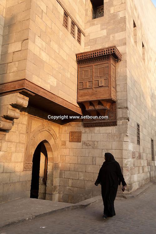 Egypt . Cairo : ZEINAB KHATUN historical house . AL AZHAR mosque area   in islamic Cairo      historical monument N 77