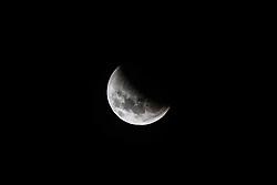 January 21, 2019 - Sorocaba, Brazil - SOROCABA, SP - 21.01.2019: ECLIPSE LUNAR VISTO DE SOROCABA - The phenomena of the Super Moon and Lunar Eclipse happened during the dawn of Monday (21). Lua vista de Sorocaba (SP) Partly shrouded by the shadow of the Earth. (Credit Image: © Cadu Rolim/Fotoarena via ZUMA Press)