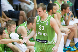 Zoran Dragic of Slovenia during friendly match between National teams of Slovenia and Republic of Macedonia for Eurobasket 2013 on July 28, 2013 in Litija, Slovenia. (Photo by Vid Ponikvar / Sportida.com)