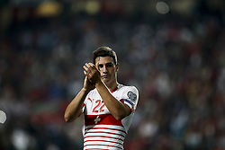 October 10, 2017 - Lisbon, Portugal - Switzerland's defender Fabian Schar applauds the supporters at the end of the FIFA World Cup WC 2018 football qualifier match between Portugal and Switzerland, in Lisbon, on October 10, 2017. (Credit Image: © Carlos Palma/NurPhoto via ZUMA Press)