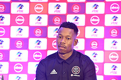 South Africa: Johannesburg: Orlando Pirates captain Happy Jele, after addressing members of the media on the much anticipated Soweto Derby on Saturday when Orlando Pirates host rivals Kaizer Chiefs for Absa Premiership match at FNB Stadium.<br />Picture: Itumeleng English/African News Agency (ANA)