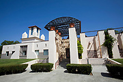 San Juan Capistrano Regional Library designed by architect Michael Graves in Postmodern Style. San Juan Capistrano, California, Orange County, USA
