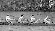 London, Great Britain.<br /> Kingston RC M4-, stroke, Maurice HAYES, 1986 Fours Head of the River Race, Reverse Championship Course Mortlake to Putney. River Thames. Saturday, 15.11.1986<br /> <br /> [Mandatory Credit: Peter SPURRIER;Intersport images] 15.11.1986
