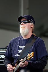 30 April 2015. New Orleans, Louisiana.<br /> The New Orleans Jazz and Heritage Festival. <br /> Jimmy Herring of Widespread Panic on the Acura stage.<br /> Photo; Charlie Varley/varleypix.com