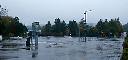 Flooding at Oban's retail park and surrounding areas have led to widespread disruption in the town this morning with many cars stranded and abandoned in the floods......... (c) Stephen Lawson | Edinburgh Elite media
