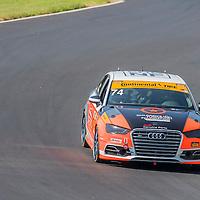 Alton, VA - Aug 26, 2016:  The Compass 360 Racing Audi S3 races through the turns at the Oak Tree Grand Prix at Virginia International Raceway in Alton, VA.