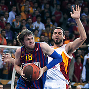 FC Barcelona Regal's C.J.WALLACE (L) during their Euroleague group D matchday 5 Galatasaray between  FC Barcelona Regal at the Abdi Ipekci Arena in Istanbul at Turkey on Thursday, November 17 2011. Photo by TURKPIX