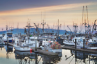 Commercial fishing boats at rest in the Squalicum Marina, Bellingham Bay Washington