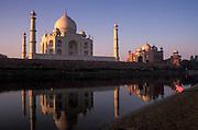 Taj Mahal<br /> South Bank of Yamuna River<br /> Agra<br /> Uttar Pradesh<br /> India<br /> UNESCO World Heritage Site