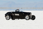 The 1932 Ford Roadster of Dripps and Gibby Racing of Batesville VA. makes a run at the 61st Annual Bonneville Speed Week on the Bonneville Salt Flats in Utah. August 8-14, 2009. Photo by Colin E. Braley