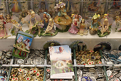 Pope Francis prayer cards on sale in Knock, Co Mayo, where Pope Francis will visit later this month.
