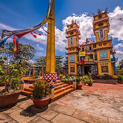 Cao Dai Church, Can Tho - Mekong Delta, South Vietnam