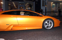 Eric Clapton photographed in his lamborghini on the Kings Road in London. car shot<br /> <br /> Exclusive Pictures
