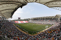 20 May 2007: Horizontal wide overview of the inside of the stadium during a 1-1 tie for MLS Chivas USA vs. Los Angeles Galaxy pro soccer teams at the Home Depot Center in Carson, CA.