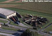 Aerial, Pennsylvania Railroad Museum, Strasburg, PA Aerial Photograph Pennsylvania