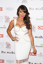 © Licensed to London News Pictures. 31/03/2014, UK. Lizzie Cundy, Pia Michi & Inanch London - Catwalk Show - VIP Arrivals, Millennium Hotel, London UK, 31 March 2014. Photo credit : Brett D. Cove/Piqtured/LNP