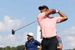 September 20, 2018 - Atlanta, Georgia, United States - Tiger Woods tees off the 16th hole during the first round of the 2018 TOUR Championship. (Credit Image: © Debby Wong/ZUMA Wire)
