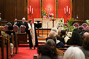 14 April 2012-Santa Barbara, CA: Rev Hilary Chrisley. Babatunde Folayemi Memorial Service at First United Methodist Church, 305 East Anapamu Street, Santa Barbara, CA. Family and friends gathered immediately following the service for refreshments and sharing in the Fellowship Hall of the church.<br />