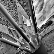 Shuttlecock on a cloudy day at the Nelson Atkins Museum of Art