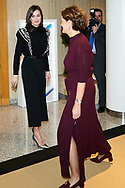 Queen Letizia of Spain attends a Meeting with the Foundation for Help Against Drug Addiction at CEOE Headquarters on December 10, 2019 in Madrid, Spain