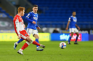 Millwall's Ryan Woods (19) in action during the EFL Sky Bet Championship match between Cardiff City and Millwall at the Cardiff City Stadium, Cardiff, Wales on 30 January 2021.