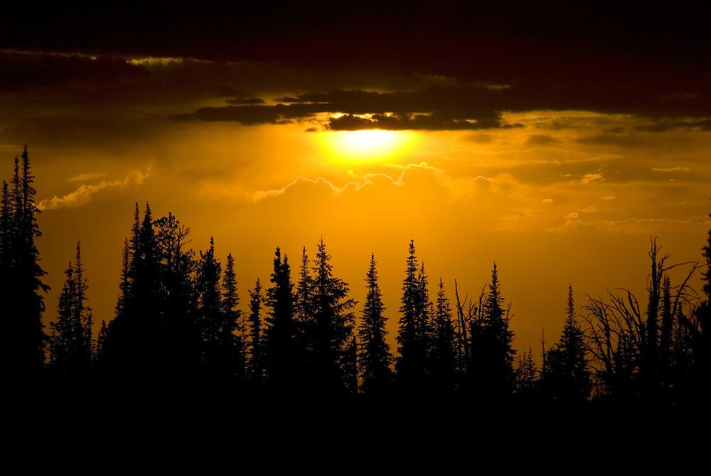 Wallowa Mountains sunset, Oregon.