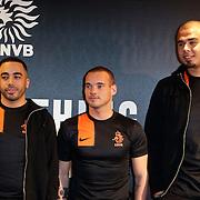 NLD/Amsterdam/20120223 - Presentatie nieuwe uit teneu Nederlands Elftal 2012 / 2013, Revenge, Wesley Sneijder en dj Afrojack