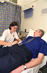 Staff and Patient at Sheffield Northern General Hospital