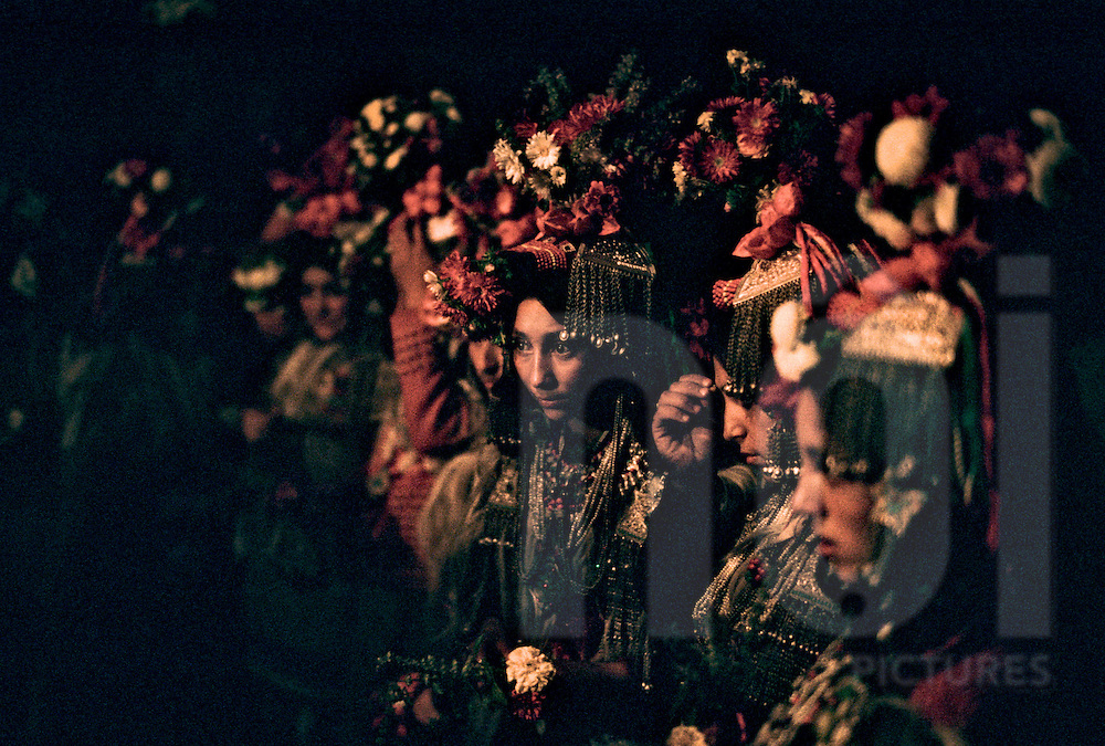 The Kalash people of Northern India, who claim to be descendants of Alexander the Great, celebrate an annual festival in Ladakh, Asia