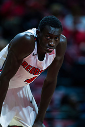 NORMAL, IL - October 23: Abdou Ndiaye during a college basketball game between the ISU Redbirds and the Truman State Bulldogs on October 23 2019 at Redbird Arena in Normal, IL. (Photo by Alan Look)