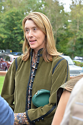 Lady Dashwood at Young Guns raising money for the fight against breast cancer trough Cancer Research UK held at EJ Churchill Shooting School followed by lunch at West Wycombe Park, England. 23 September 2017.