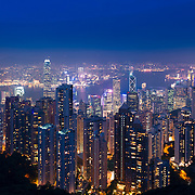 Panorama skyline of Hong Kong