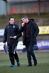 Airdrie's manager Mark Wilson. Albion Rover 1 v 2 Airdrie, Scottish League 1 game played 5/11/2016 at Cliftonhill.