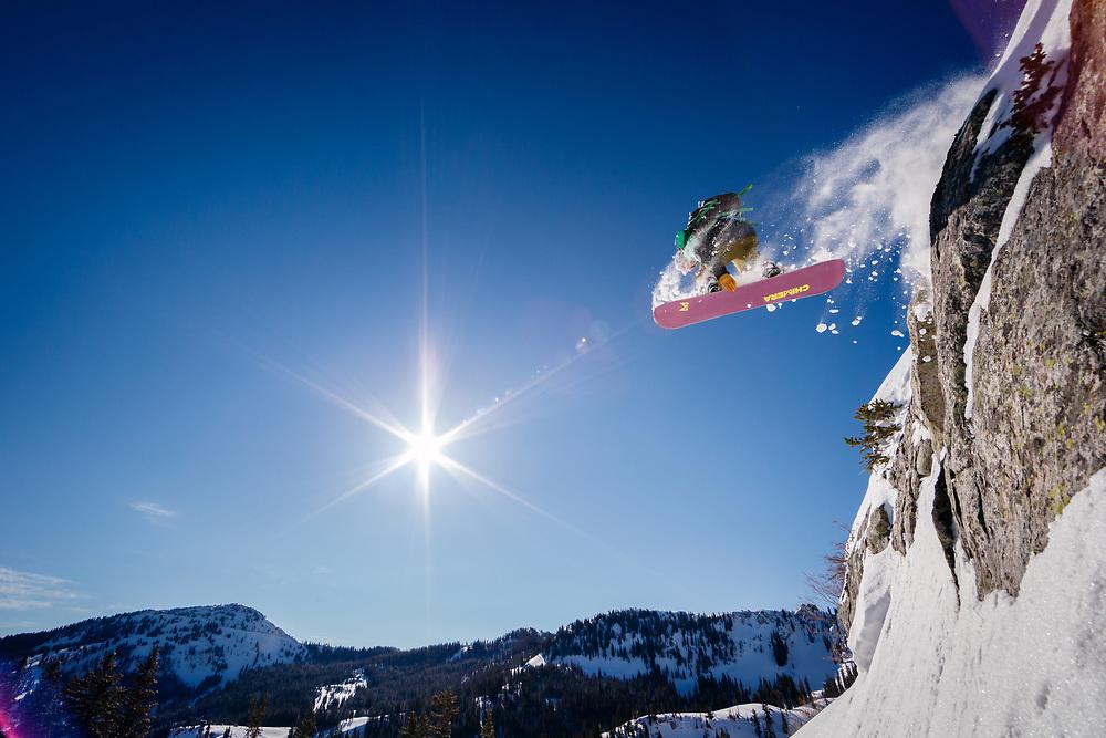 Sean skiing Brighton Ski Area, Wasatch Mountains Utah.