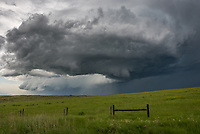This supercell showed the best structure west of Busby. But then it moved north and weakened.