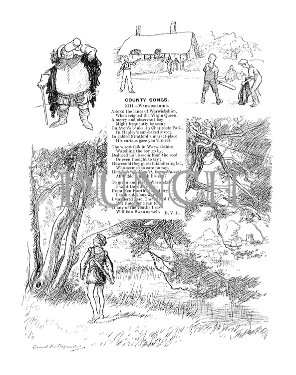 County Songs. XIII.—Warwickshire. (Illustrated poem)