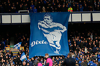Football - 2019 / 2020 Premier League - Everton vs. Manchester United<br /> <br /> Banner for Everton legend Dixie Dean who died 80 years ago today, at Goodison Park.<br /> <br /> COLORSPORT/ALAN MARTIN