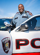 Houston ISD Police Officer Quentin Flannel poses for a photograph March 25, 2014. Flannel was named Houston ISD Employee of the Month for April 2014.