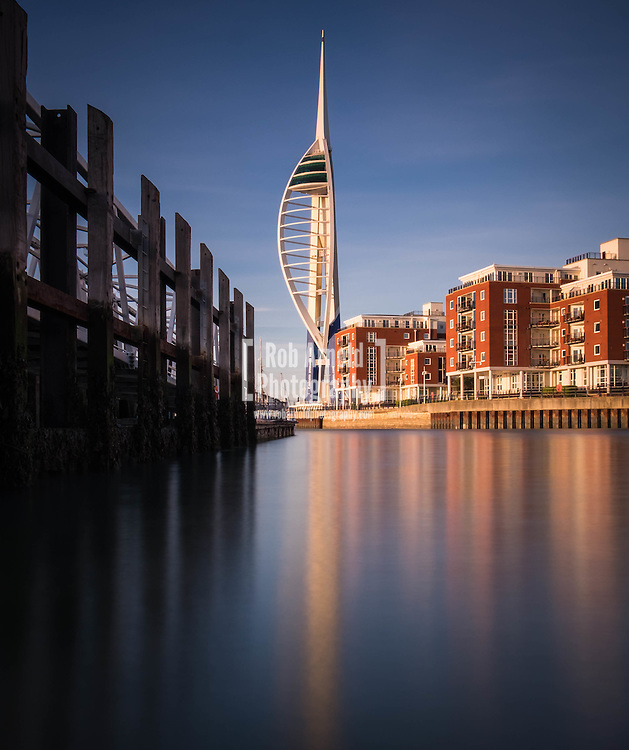 The Spinnaker Tower and Gunwharf Quays in Portsmouth, Hampshire